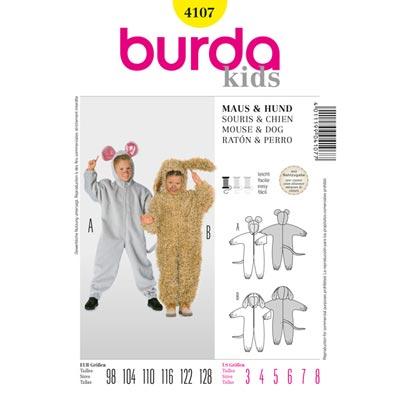 Overall, Burda 4107 | 98 - 128