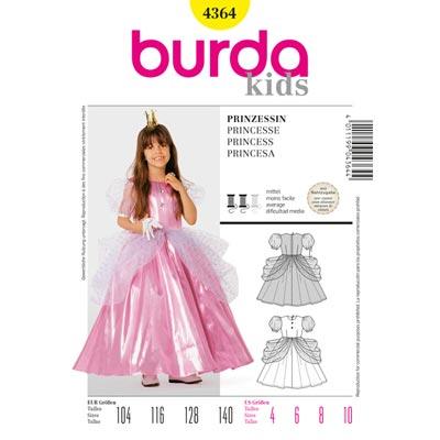 Prinzessin, Burda 4364 | 104 - 140