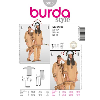 Indianer–Kombination, Burda 5815 | 38 - 54