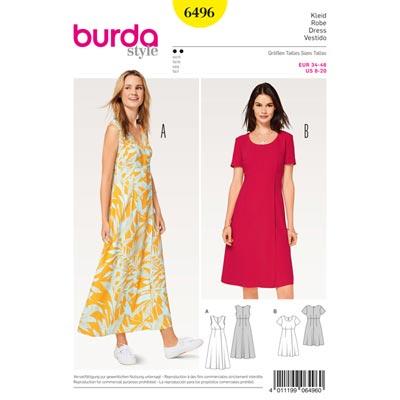 Kleid, Burda 6496 | 34 - 46