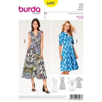 Kleid, Burda 6497 | 34 - 46