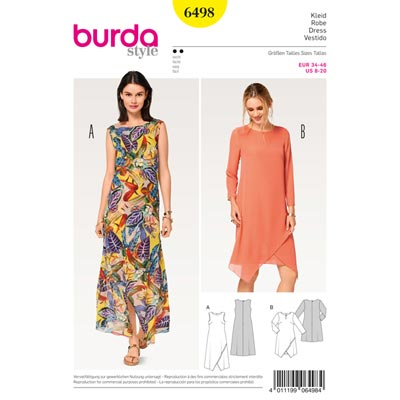 Kleid, Burda 6498 | 34 - 46