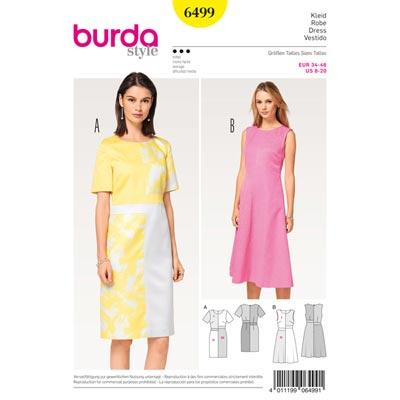 Kleid, Burda 6499 | 34 - 46