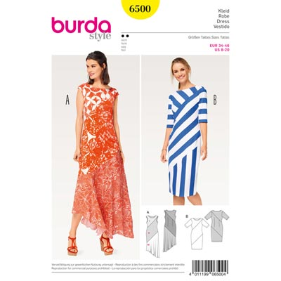 Kleid, Burda 6500 | 34 - 46