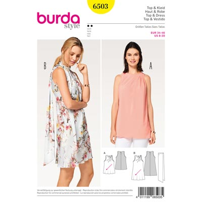Top | Kleid, Burda 6503 | 34 - 46