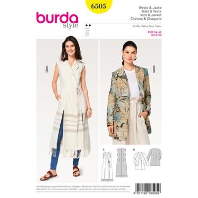 Weste | Jacke | Blazer, Burda 6505 | 34 - 46