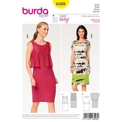 Kleid, Burda 6508 | 34 - 46