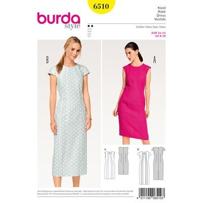 Kleid, Burda 6510 | 34 - 44
