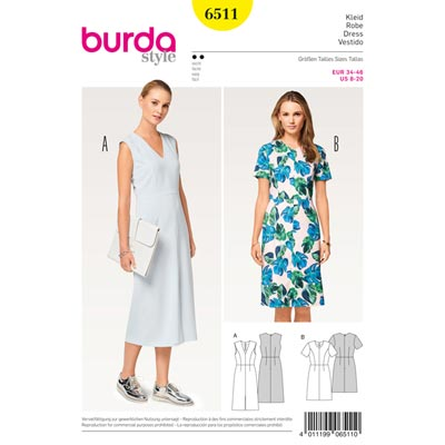 Kleid, Burda 6511 | 34 - 46