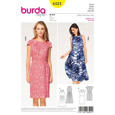Kleid, Burda 6521 | 34 - 44
