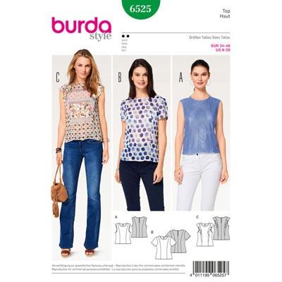 Top | Bluse, Burda 6525 | 34 - 46