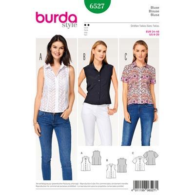 Bluse, Burda 6527 | 34 - 46