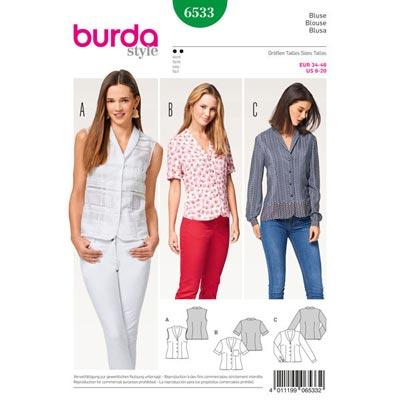 Bluse, Burda 6533 | 34 - 46