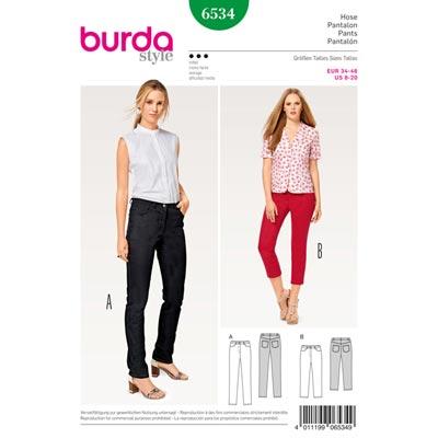 Hose | Jeans | 3 | 4 Hose, Burda 6534 | 34 - 46