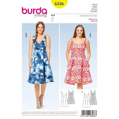 Kleid, Burda 6536 | 32 - 44