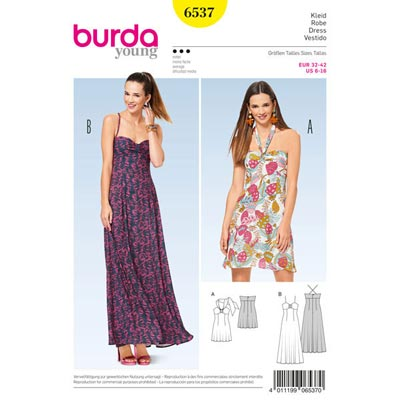 Kleid, Burda 6537 | 32 - 42