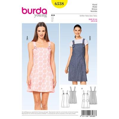 Kleid, Burda 6538 | 32 - 44