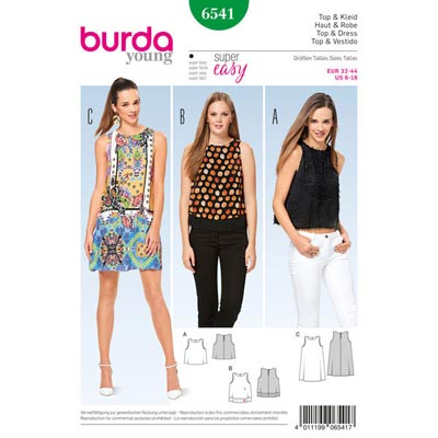 Top | Kleid, Burda 6541 | 32 - 44