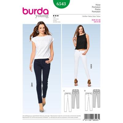 Hose | Jeans, Burda 6543 | 32 - 46