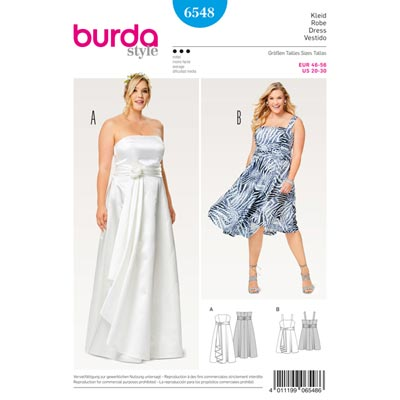 Plus Size - Brautleid | Rock, Burda 6548 | 46 - 56