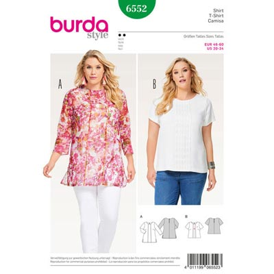 Plus Size - Shirt | Bluse, Burda 6552 | 46 - 60