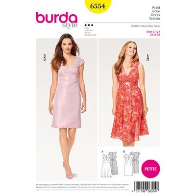 Kleid | Trägerkleid | Schiftkleid, Burda 6554 | 17 - 22