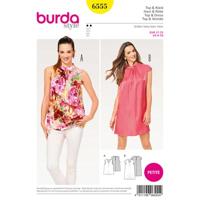 Top | Kleid, Burda 6555 | 17 - 23