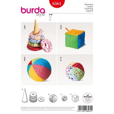 Spielzeug / Kegel mit Ringen / Ball, Burda 6561