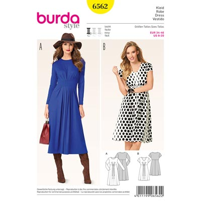 Kleid, Burda 6562 | 34 - 46