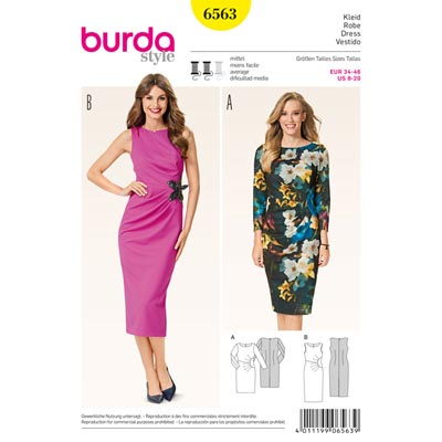Kleid, Burda 6563 | 34 - 46