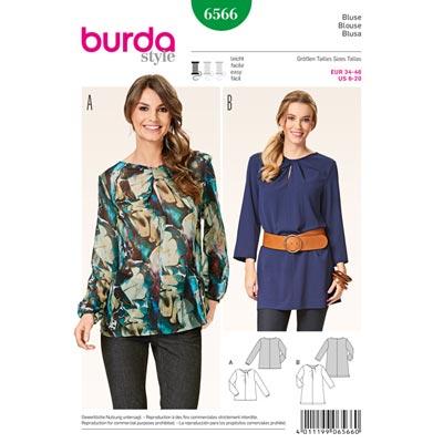 Bluse, Burda 6566 | 34 - 46