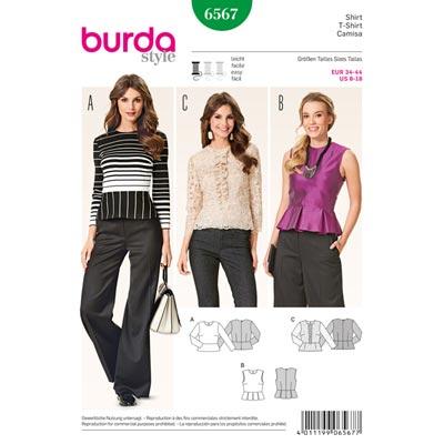 Bluse, Burda 6567 | 34 - 44