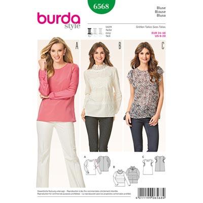 Bluse, Burda 6568 | 34 - 46