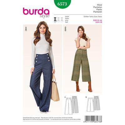 Hosen, Burda 6573 | 32 - 44