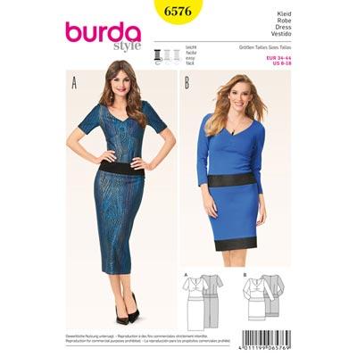 Kleider, Burda 6576 | 34 - 44