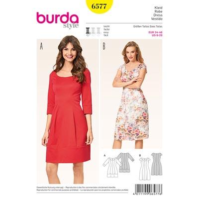 Kleider, Burda 6577 | 34 - 46