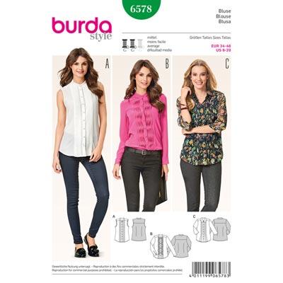 Blusen, Burda 6578 | 34 - 46