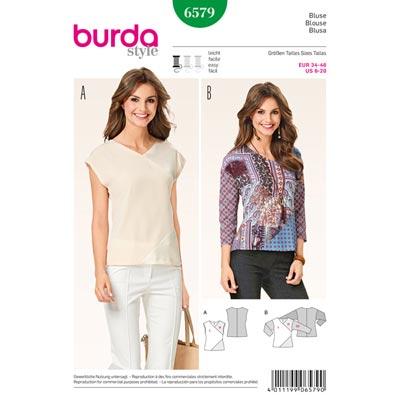 Blusen, Burda 6579 | 34 - 46