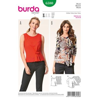 Blusen, Burda 6580