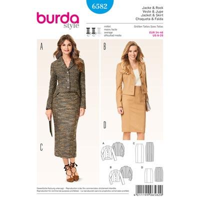 Kombination, Burda 6582 | 34 - 46