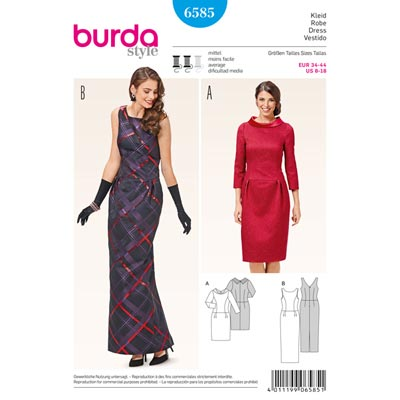 Kleid, Burda 6585 | 34 - 44