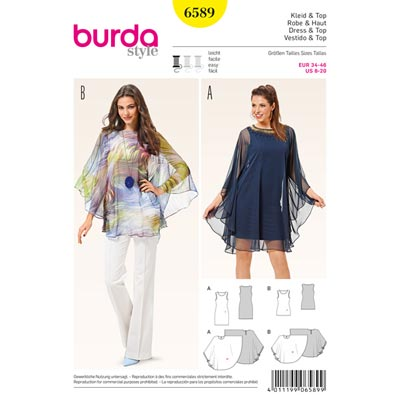 Kleid | Top, Burda 6589 | 34 - 46