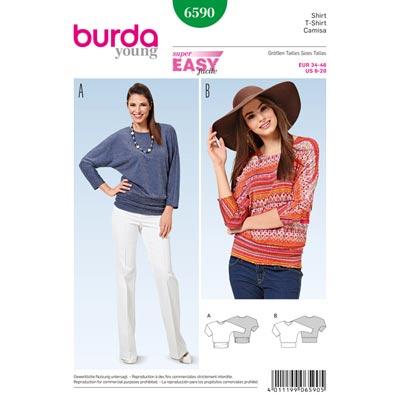 Shirt, Burda 6590 | 34 - 46