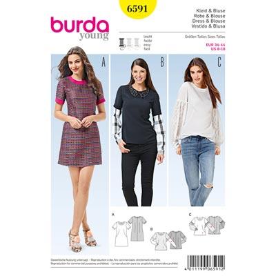 Kleid/Bluse, Burda 6591