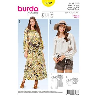 Kleid/Bluse, Burda 6592