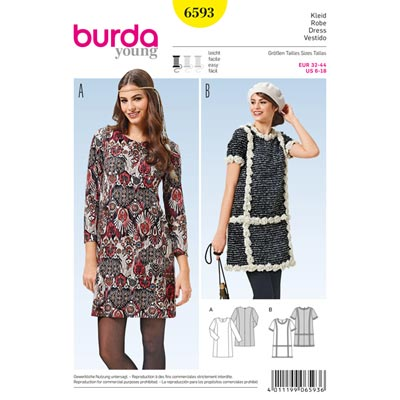 Kleid, Burda 6593