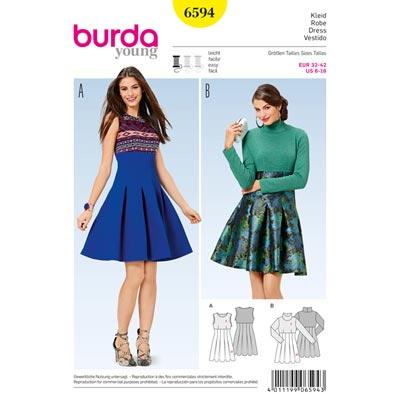 Kleid, Burda 6594