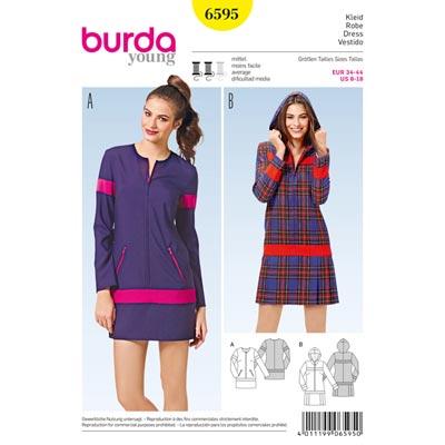 Kleid, Burda 6595 | 38 - 44