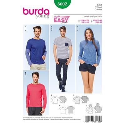 Shirt, Burda 6602 | 32 - 46 | 44 - 56
