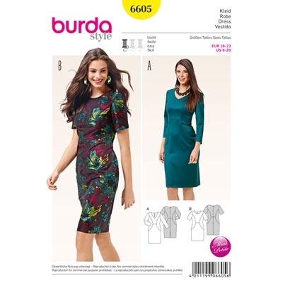 Kleid, Burda 6605 | 16 - 23